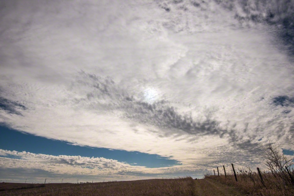 Late Morning Clouds Moving In - West Fence Line