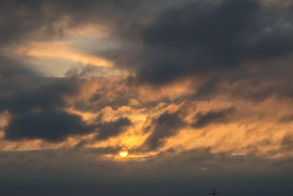 November 11 Sun Burning Through Cloud Cover
