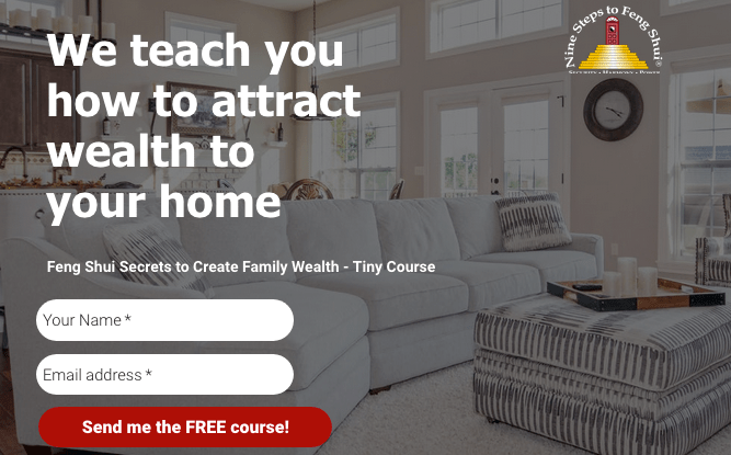 we teach you how to attract wealth to your home