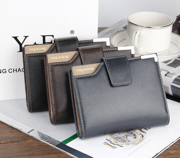 men's bifold wallet with id window