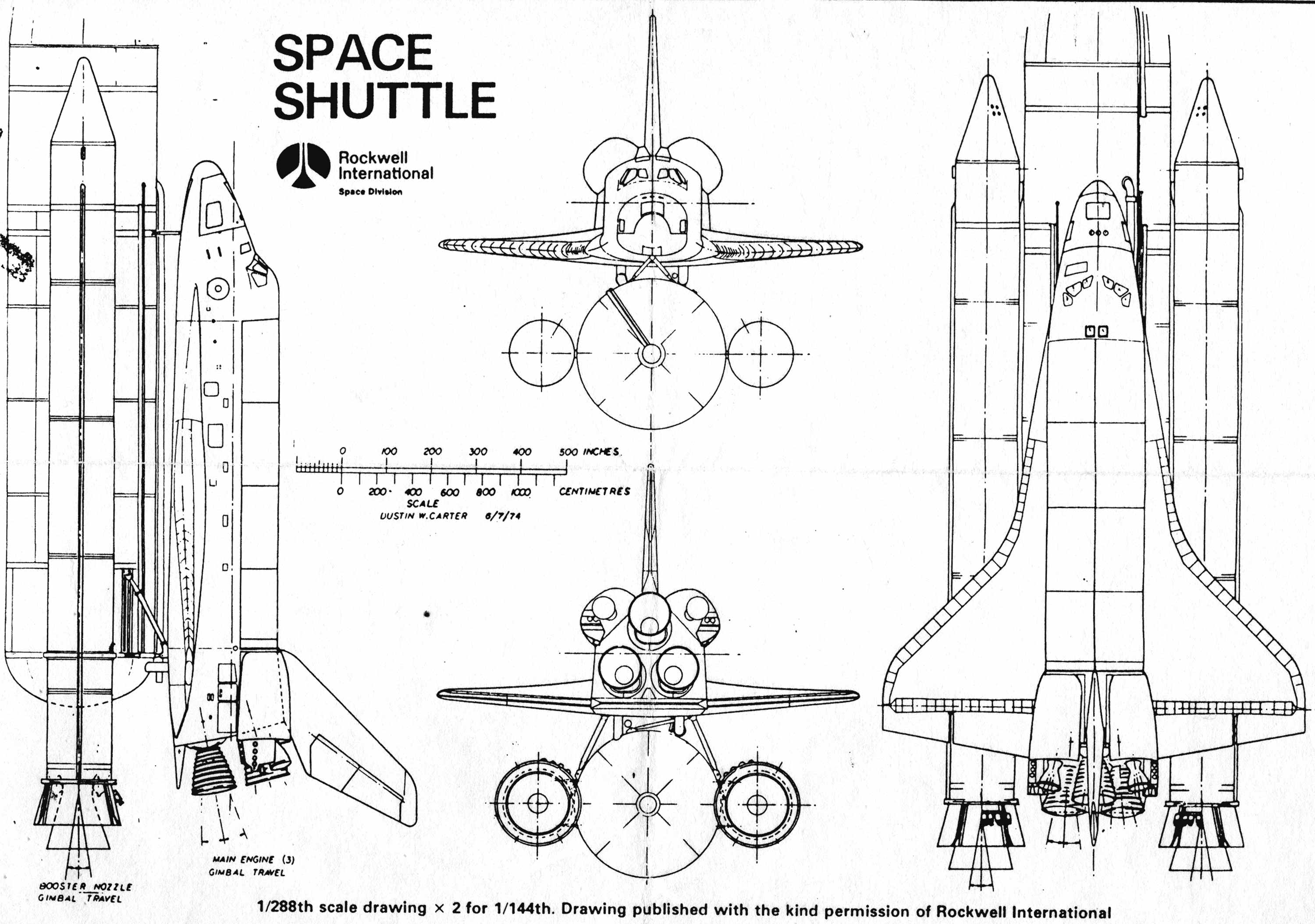 Space Shuttle Technical Drawings Page 2