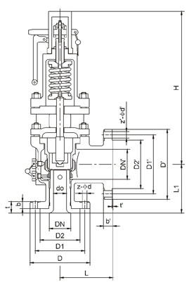 Class 150~2500 A48SC Type Pound-grade full lift spring