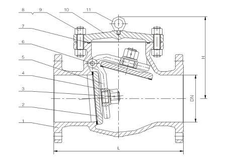 PN16~40 DIN Swing Check Valve F1 & F6 Series-NINGBO VALVE