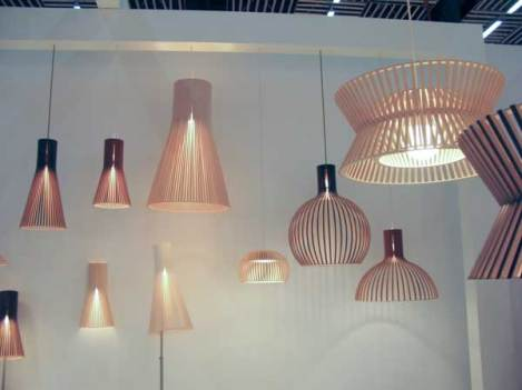 My favorite – but too expensive – ceiling lamps. Wooden.