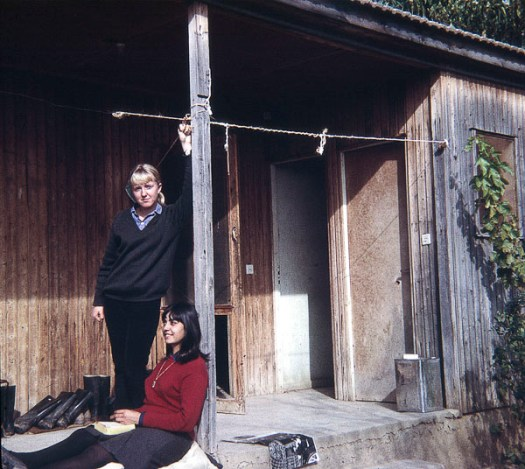 Me and Jacueline outside our door. WC and shower behind the door to the right.