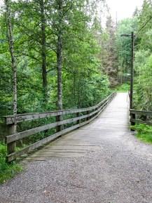 Wooden bridge over the Small dam
