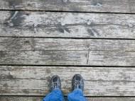 Footsie on the wooden bridge