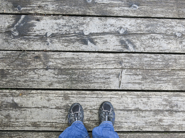 Footsie on the wooden bridge