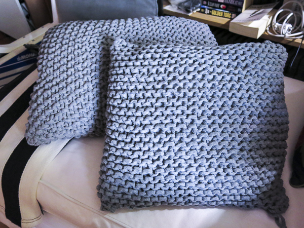 knitted, pillows