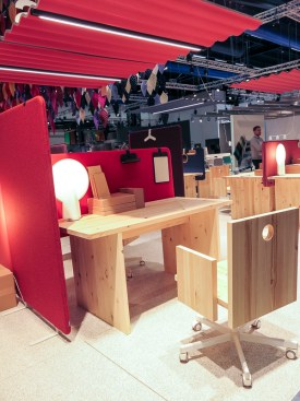Office furniture in rough materials