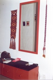 Mirror at the entrance