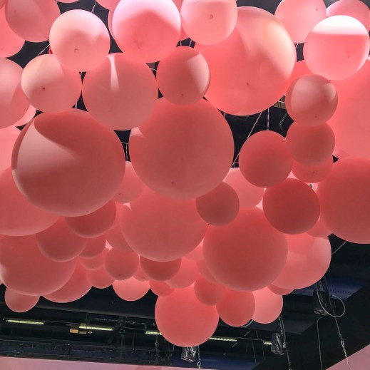 Balloons in the ceiling