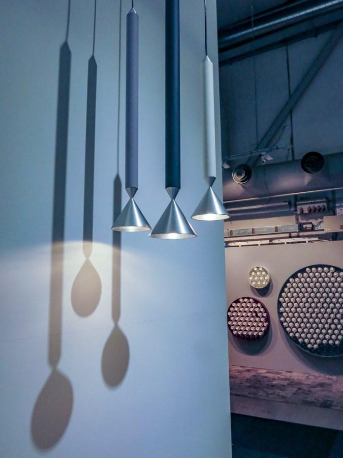 Hanging lamps.