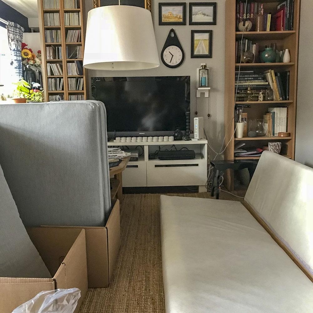 sofa, karlstad, ikea