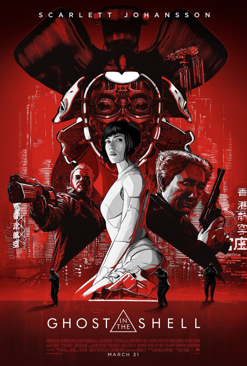Download this cool Ghost in the Shell 2017 poster