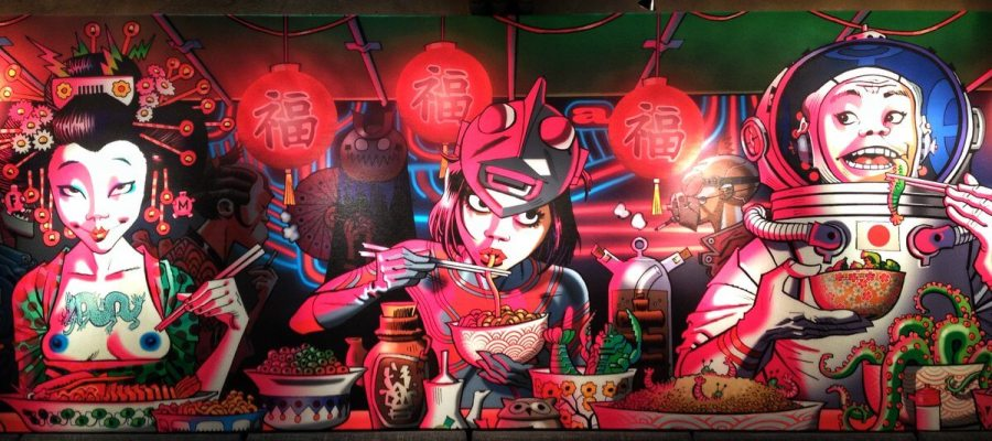 shochu-lounge-mural-jamie-hewlett-wallpaper