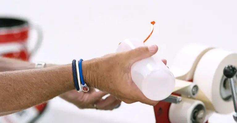 Golf grip solvent
