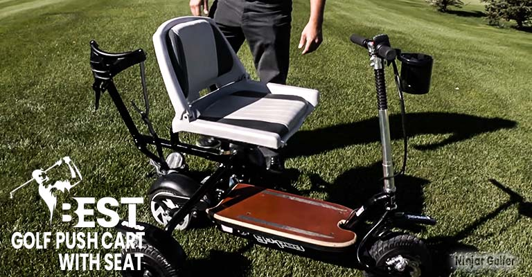 BEST GOLF PUSH CART WITH SEAT