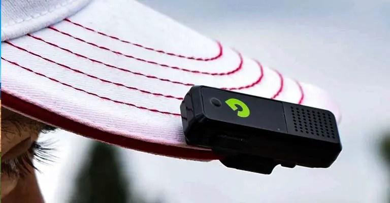 GPS Audible Golf Rangefinder Hat Clip