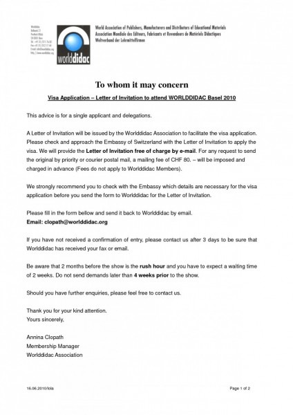 invitation letter for visitor visa uk