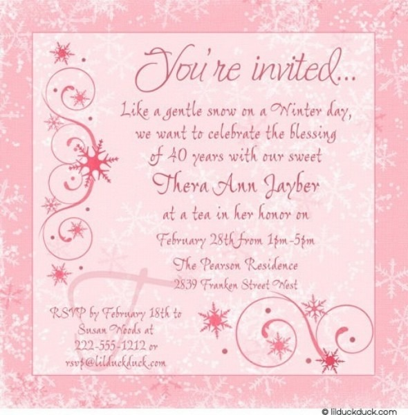 birthday party invites for adults