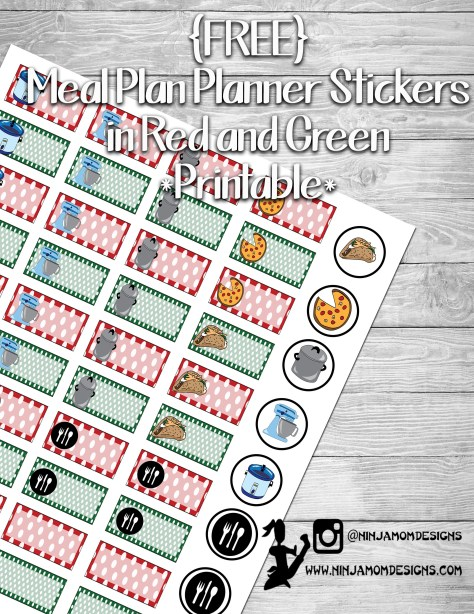red and green meal plan cover