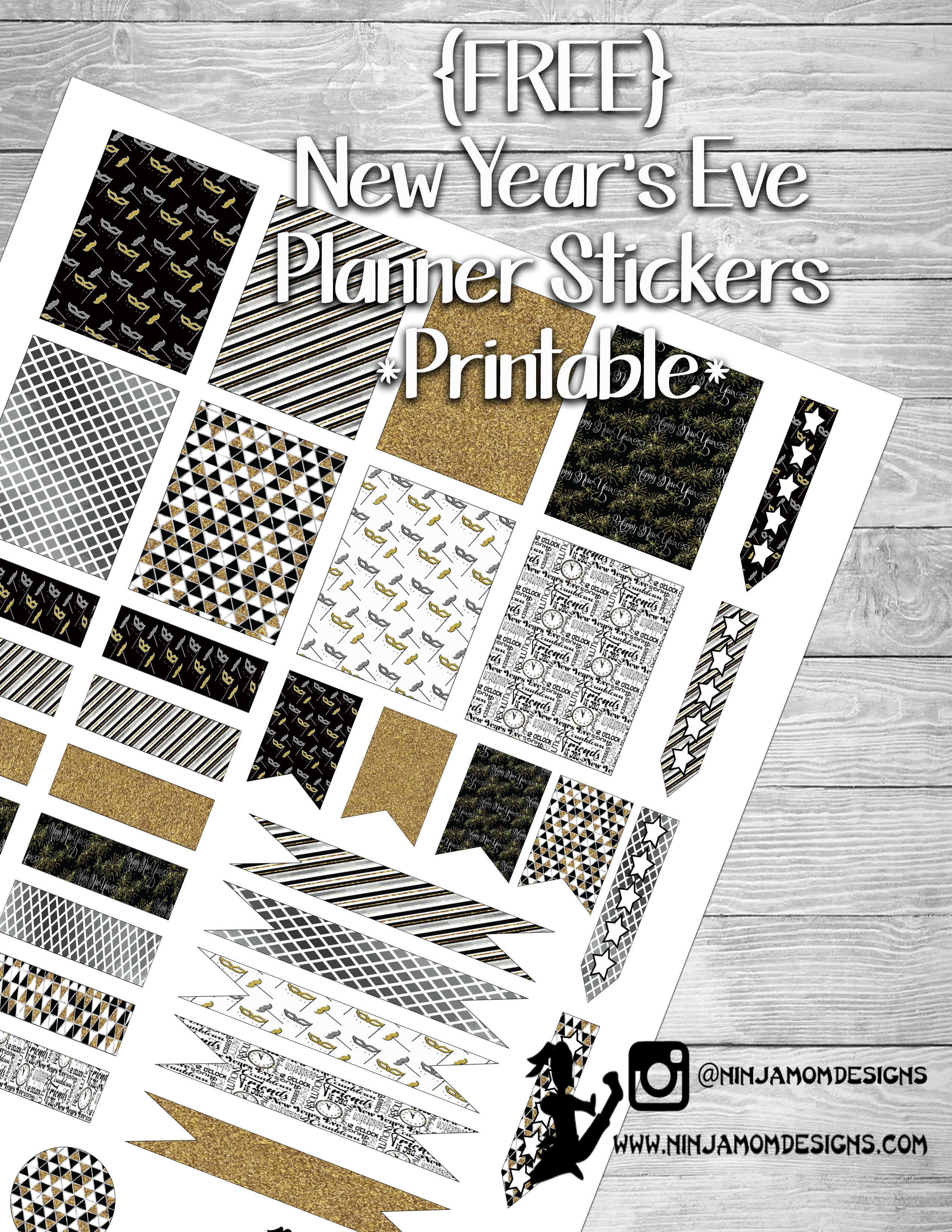 Free New Year S Eve Planner Sticker Printable