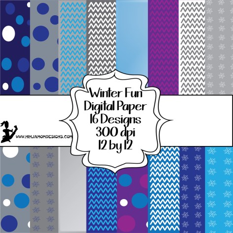 Winter Digital Paper