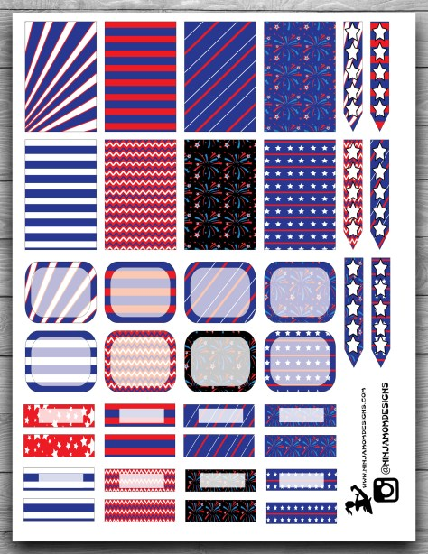 Free Red White and Blue Cover 2