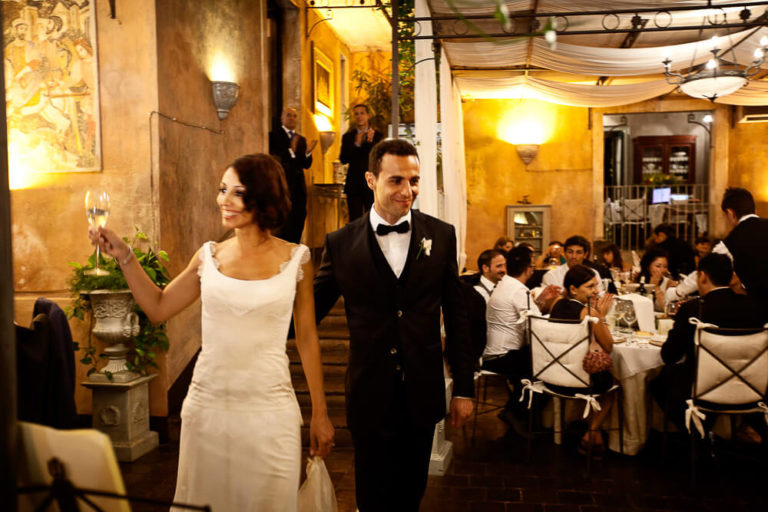 Photographs taken in the Taormina Sicily wedding reception