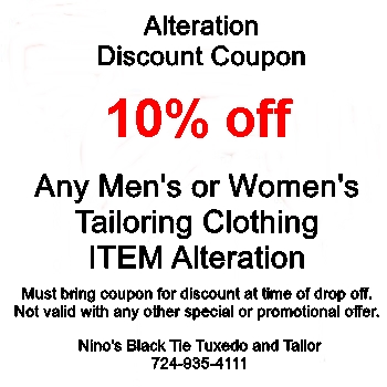 Services Nino's Black Tie Tuxedo and Tailor