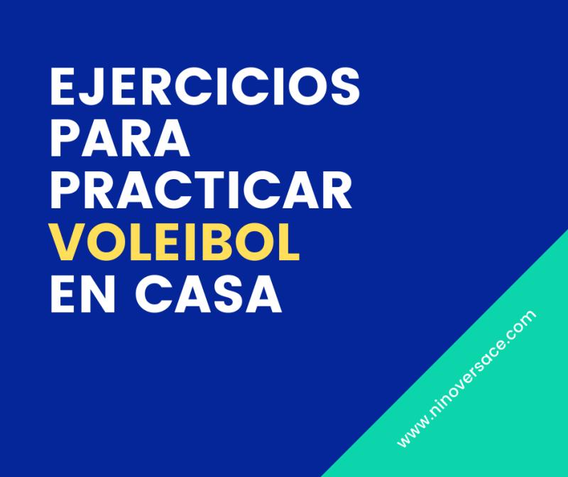 Ejercicios para practicar voleibol en casa