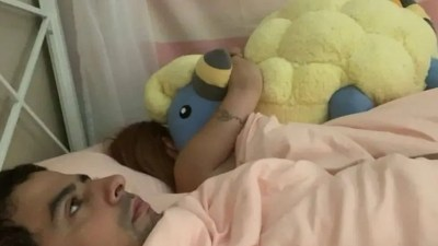This photo of a girl hugging her Mareep Pokémon stuffed toy has gone viral