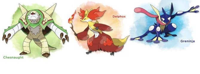 chesnaught delphox and greninja are pokémon x y starter s final