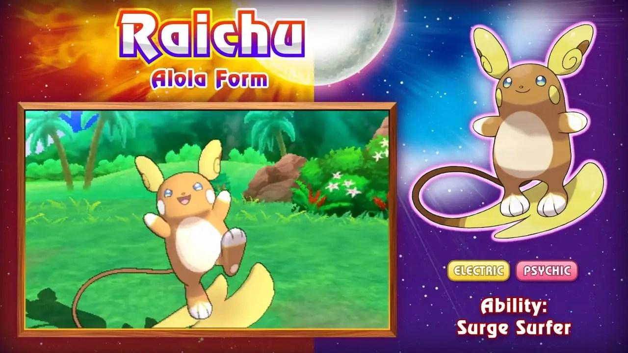 Alolan Raichu Morelull And Pyukumuku Leaked For Pok 233 Mon Sun And Moon Nintendo Insider