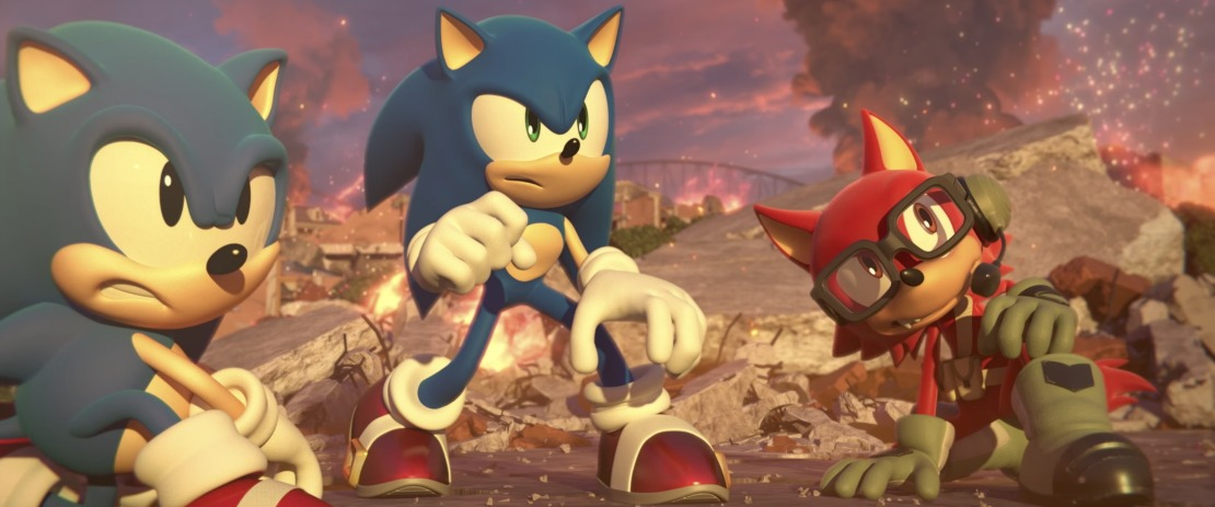 Sonic Forces Bonus Edition Includes Art Cards Crossover Content Shadow Costume And Controller