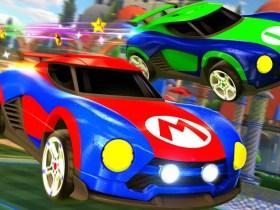 Mario NSR Luigi NSR Rocket League Screenshot