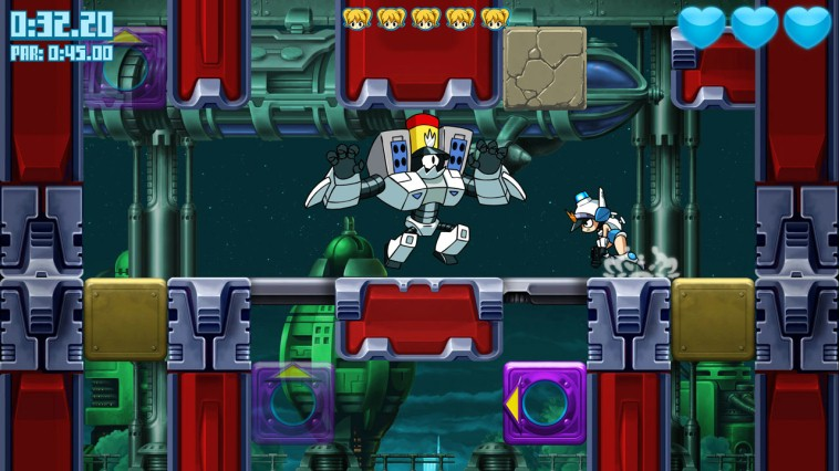 Mighty Switch Force! Hyper Drive Edition Review Screenshot 2