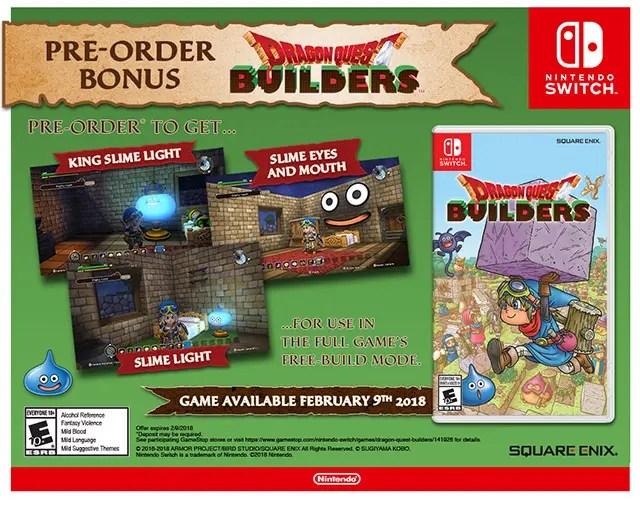 dragon-quest-builders-pre-order-bonus-items