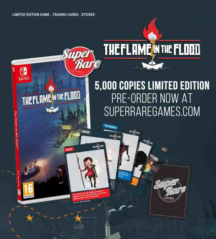 Super Rare Games The Flame In The Flood Box Art