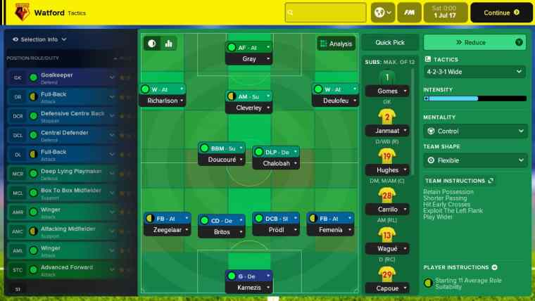 Football Manager Touch 2018 Review Screenshot 1