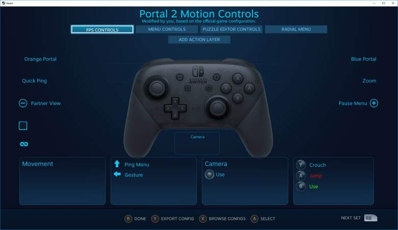 Steam Nintendo Switch Pro Controller Settings