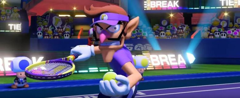 Waluigi Mario Tennis Aces Screenshot