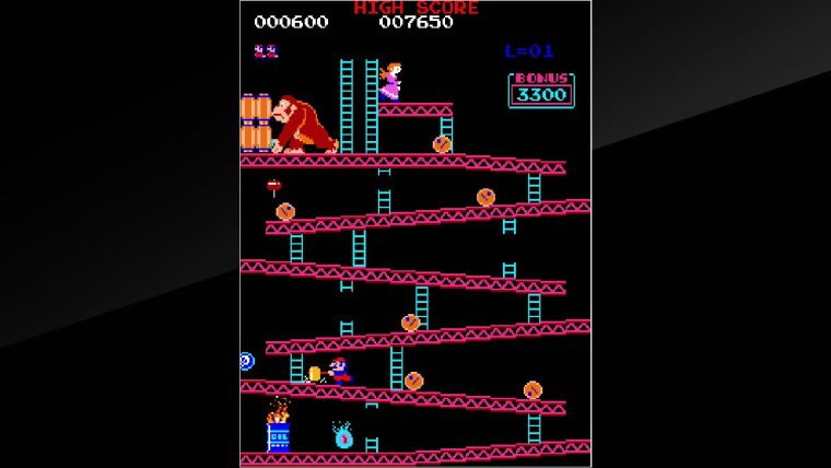Arcade Archives Donkey Kong Review Screenshot 1