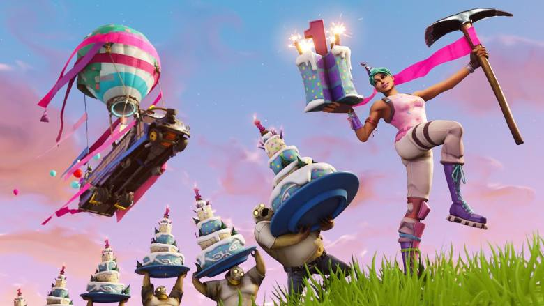 Fortnite Birthday Artwork