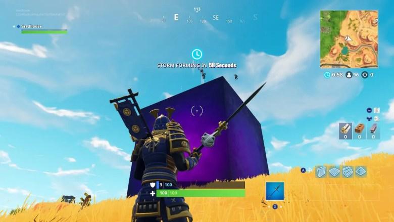 Fortnite Purple Cube Screenshot
