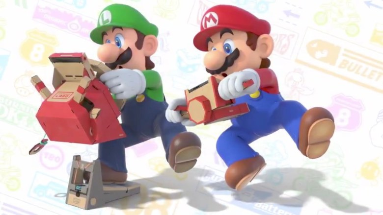 Mario Kart 8 Deluxe Nintendo Labo Artwork