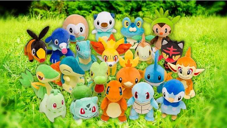 Official Starter Pokémon Plush