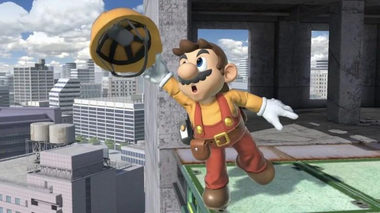 Builder Mario Super Smash Bros. Ultimate Screenshot