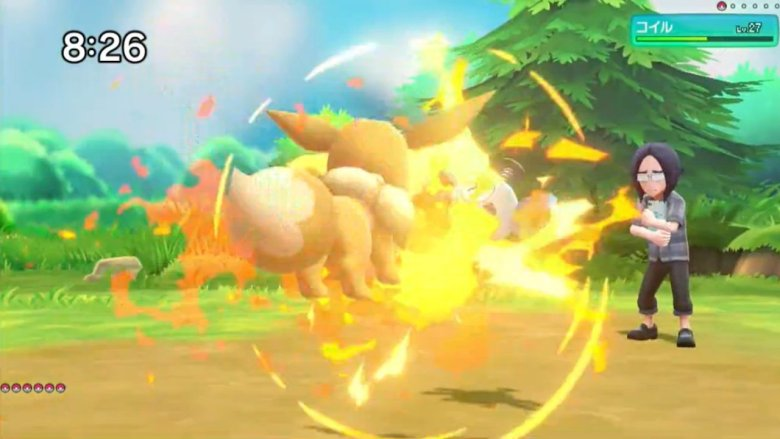 Flare Burn Pokémon Let's GO Screenshot